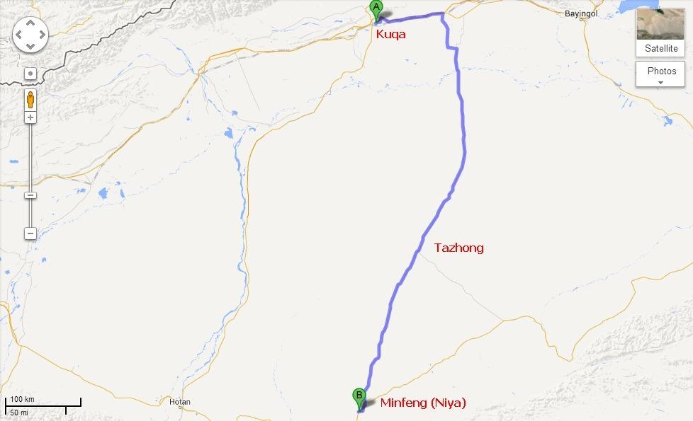 Taklamakan Desert Map Location Taklamakan Desert Location On World